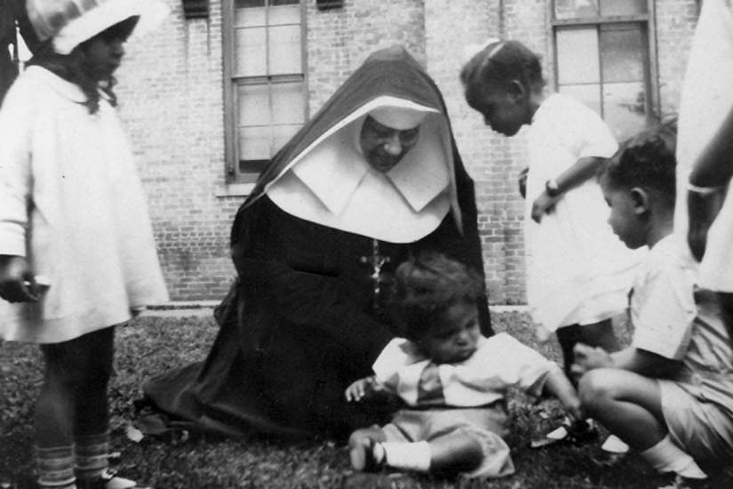 St. Katharine Drexel, the Philadelphia heiress worked to help the minority population in the USA, founded the Sisters of the Blessed Sacrament and sought to share profundity of the Cross of Christ in joy.