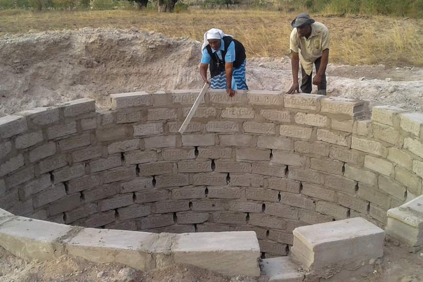 It's not uncommon to find Sr. Benedicta at a project site, tool in hand, participating in the construction of a building!