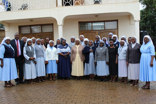 The Secretary General, Sr. Margaret Kubanze with the participants after opening the Administration Workshop