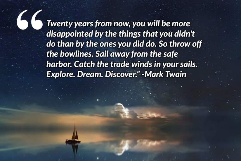 When Sr. Irene looks back on her experience in the program a quote by Mark Twain comes to her mind;