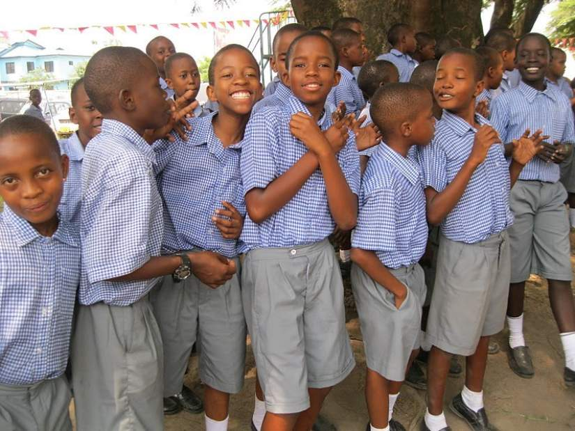 Students in Tanzania mission schools are always neat, happy and enjoy learning.