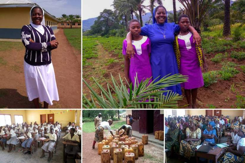 Sr. Caroline Acha, SST, serves in a remote area of northwest Cameroon. Her ASEC education is helping her to overcome the many challenges facing her community.