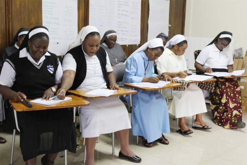 During the SLDI Finance workshop session in Zambia sisters learned how to prepare a balance sheet.