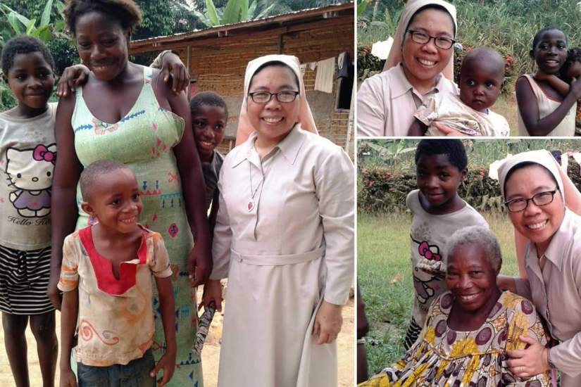 In the thick of socio-political crisis, SLDI alumna Sr. Marivela was able to assist internally displaced persons in Kribi, Cameroon, by distributing food and other urgent necessities.