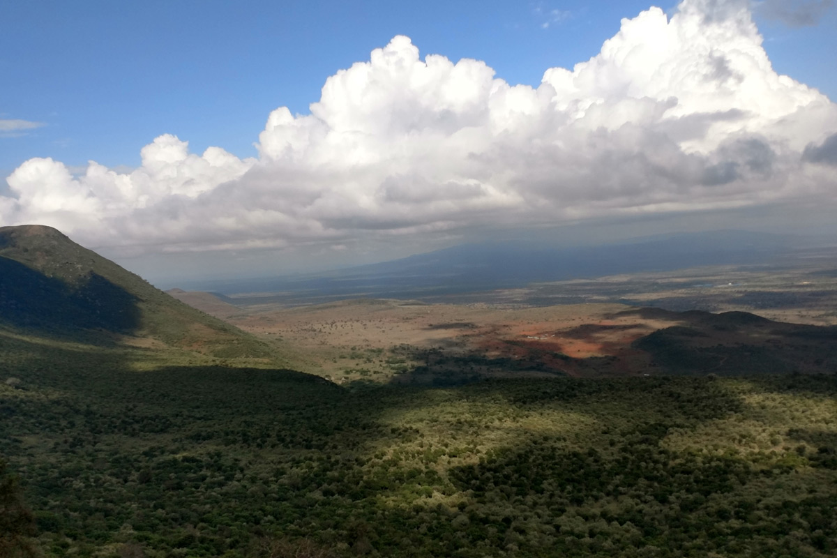 Students experienced many iconic African moments during the Service Learning trip, such as looking out over the Great Rift Valley where some of the earliest human fossils have been found.