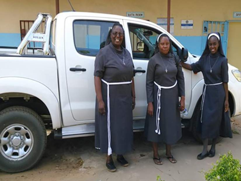 As Facilitator-in-Charge, Sr. Constancia (right) raised funds to purchase vehicle for the health centre. The vehicle has been helpful in creating more outreach posts for children and makes Makunka's home-based assisted care possible.