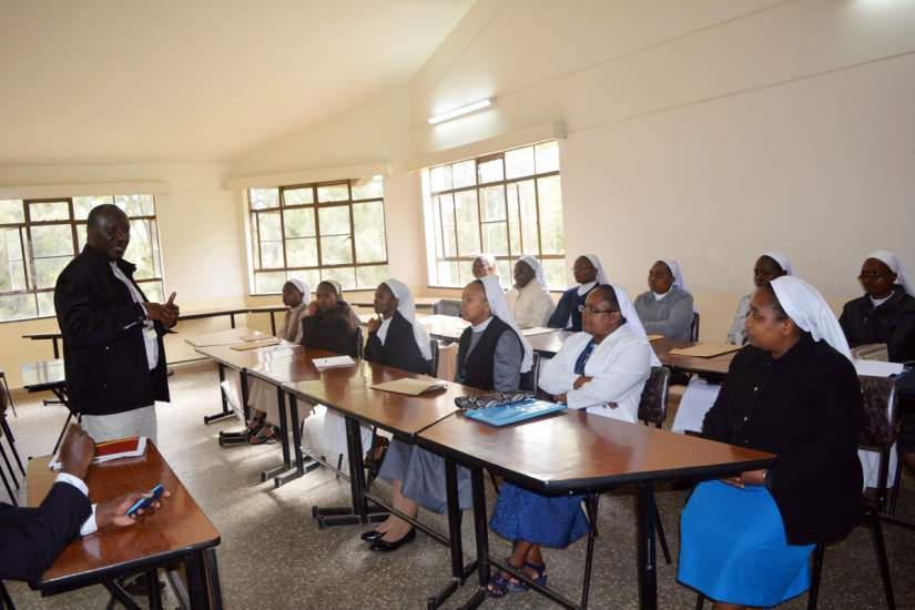 HESA sisters attend online orientation at the Catholic University of Eastern Africa (CUEA) following introduction and guideline to the University.