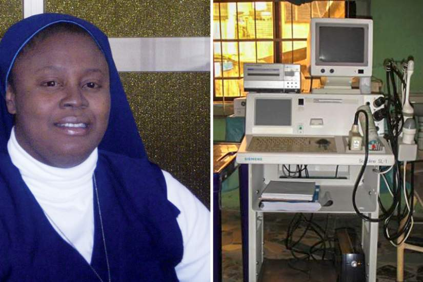 Sr. Jose Maria Nonye Anyawu, HFSN used the skills she learned in ASEC's SLDI program to secure grant funding for an ultrasound machine.