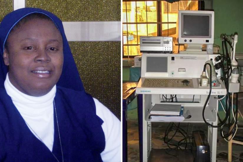 Sr. Jose Maria Nonye Anyawu, HFSN used the skills she learned in ASEC's SLDI program to secure grant funding for an ultrasound machine.