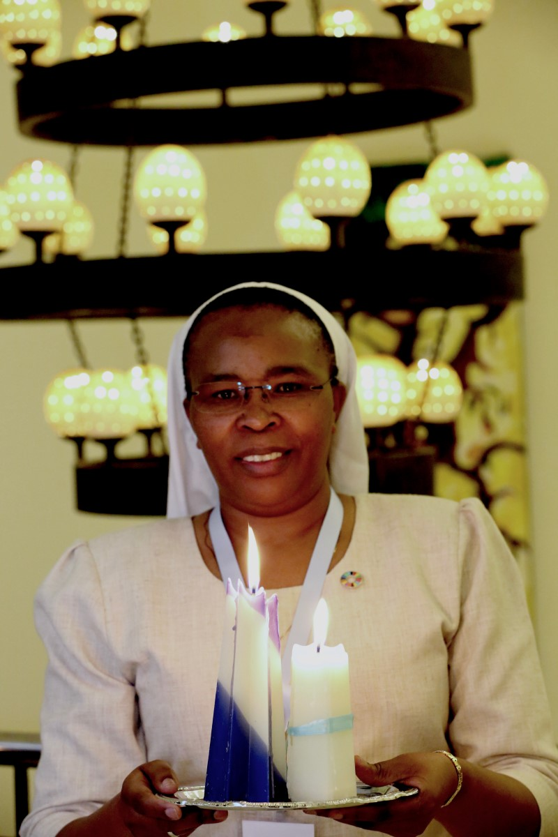Sr. Jane leads procession at the Convening in Nairobi (October 2016)