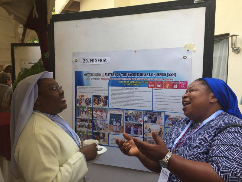 Sr. Florence, Nigeria, Discusses her Poster