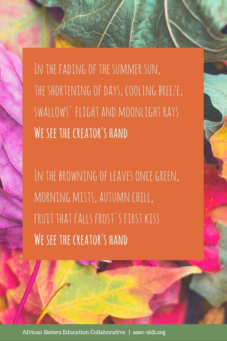 Autumn Prayer: in the fading of the summer sun
