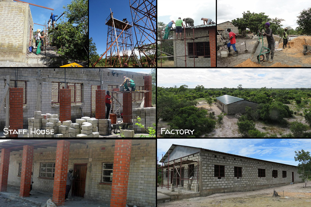 Construction of Mother Earth Centre in Mongu, Zambia: Factory and Staff House