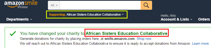 ASEC Amazon Smile Confirmation